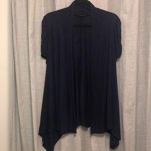 Women's Open Front Short Sleeve Cardigan